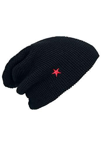 Rammstein Fan Beanie Mütze Roter Stern schwarz, Offizielles Band Merchandise