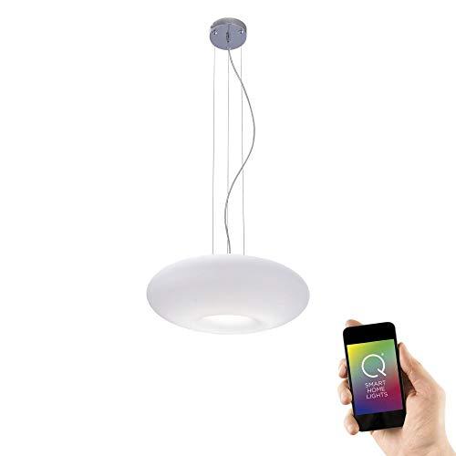 Preisvergleich Produktbild Paul Neuhaus 8109-17 Q-ELINA Pendel Lampe Smart-Home Alexa fähig,  Deckenleuchte dimmbar,  Farbwechsel inkl. Fernbedienung