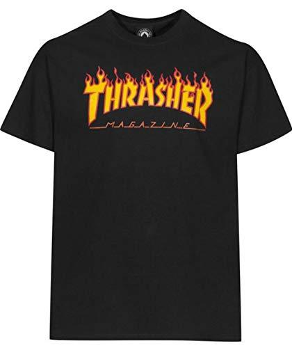 Thrasher Flame Black T-Shirt Größe: S