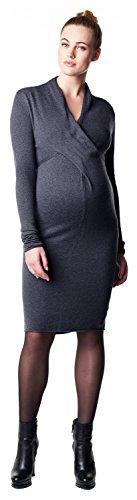 Noppies Damen Dress knit ls Zara 3 Umstandskleid, Blau (Dark Blue C165), 40 (Herstellergröße: L)