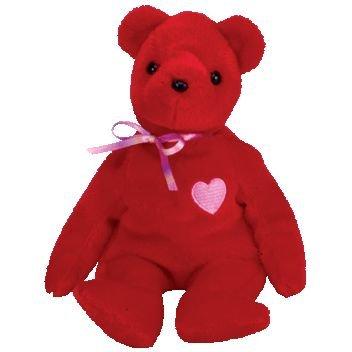 Ty Beanie Bear - Kiss -e The Valentine Bear by Ty