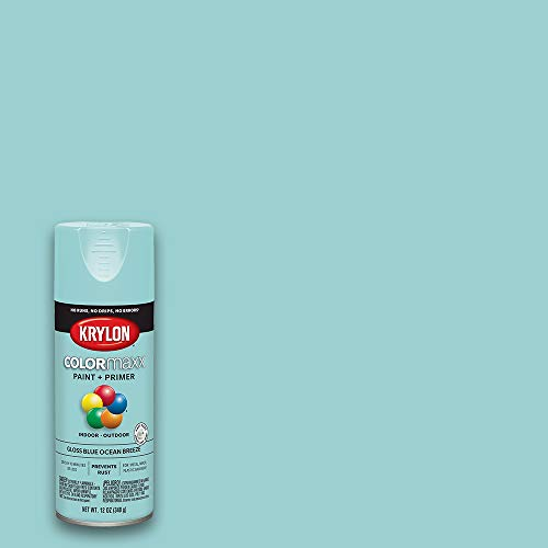 Krylon K05506007 COLORmaxx Spray Paint and Primer for Indoor/Outdoor Use, Gloss Blue Ocean Breeze