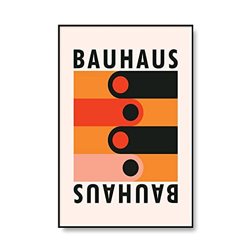 Carteles e impresiones artísticas Bauhaus, pared de arte de línea abstracta imágenes modernas de decoración del hogar nórdico, pintura de lienzo sin marco A6 15x20cm
