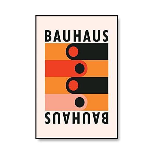 Moderno Museo de Arte Bauhaus Impreso Patrón Geométrico Póster Abstracto Único Pintura de Pared Familia sin Marco Lienzo Pintura A1 50x70cm