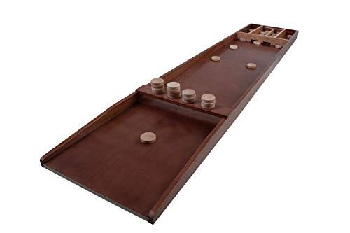Unbekannt Shuffleboard-Spiel mit 30 Scheiben 200 x 41 cm