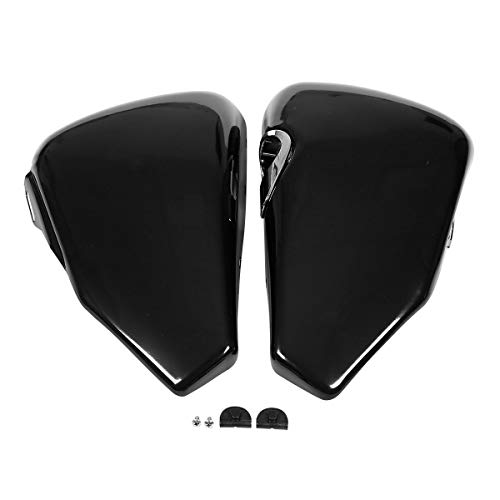 Hokuotolite Left Battery Cover and Oil Tank Cover Set fits for Harley Davidson Sportster XL models 2004-2013 XL1200 XL883,Black