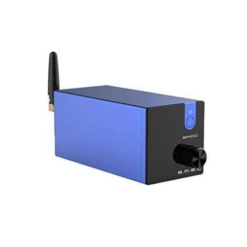 S.M.S.L. SA100 Amplificatore digitale Bluetooth Classe D 2 canali 50W x 50W Amplificatore di potenza TPA3116 Amplificatore da tavolo Mini Stereo HiFi AMP (Blu)