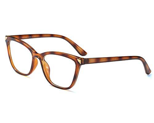 YOFASEN Gafas De Montura Grande Uv400, Anti-Ultravioleta, Anti-Dolor De Cabeza, Anti-Luz Azul Y Anti-Fatiga, Aptas Para Hombres Y Mujeres,Ámbar