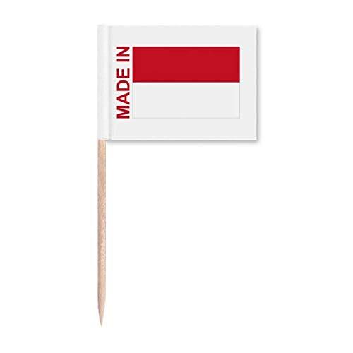 Gefertigt in Indonesien Country Love Zahnstocher Flaggen Marker Topper Party Dekoration
