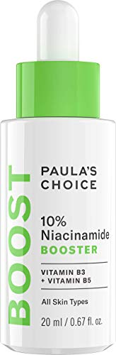 Paula's Choice 10% Niacinamide Booster Face Serum - Pore Minimizer & Pigmentation Treatment for Uneven Skin Tone - with Vitamin B3 & B5 - All Skin Types - 20 ml