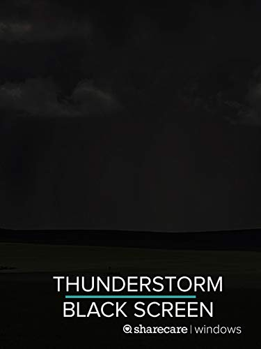 Thunderstorm for sleep black screen