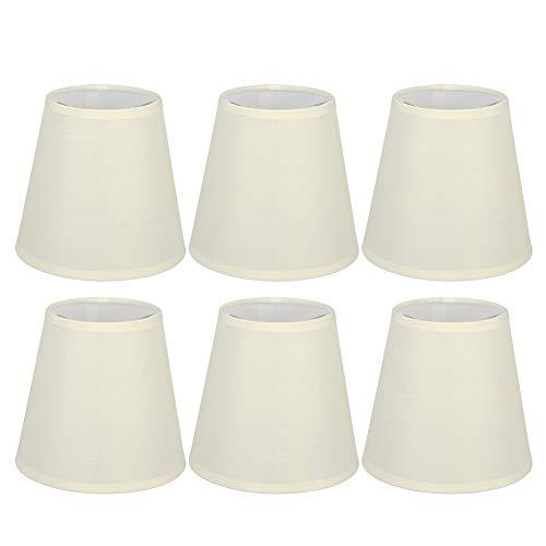 HERCHR Juego de 6 Pantallas de lámpara de Tambor de Tela para lámparas de Mesa, Pantallas de lámpara pequeñas con Clip, Pantallas de lámpara Colgante para lámparas de pie, lámparas de araña de Pared