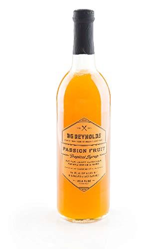 BG Reynolds Natural Tiki Cocktail Cane Syrup, Passion Fruit, 375 ml, No Preservatives