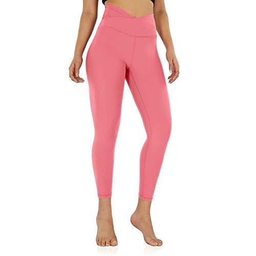 YANFANG Leggings de Yoga de Cintura Cruzada para Mujer Pantalon Chandal Mujer con Pantalones de Entrenamiento de Bolsillo Interior para Correr
