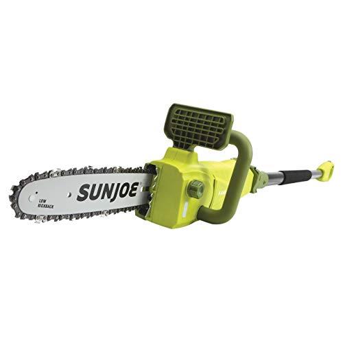 Sun Joe SWJ807E 10 inch 8.0 Amp Electric Convertible Pole Chain Saw, Green (Renewed)