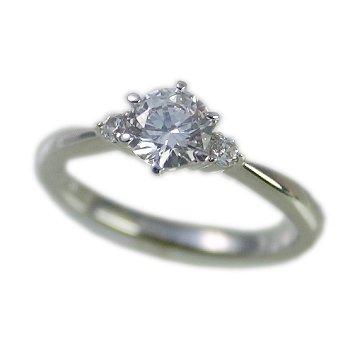 婚約指輪 ケース付 ダイヤモンド プラチナ 0.2カラット 鑑定書付 0.215ct Eカラー VVS2クラス 3EXカット H&C CGL サイズ4号