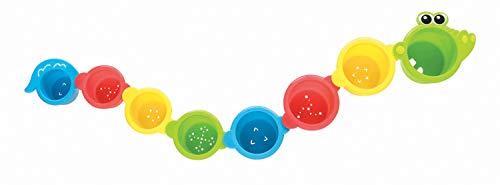 Playgro Badspeelgoed stapelbekers, 4 stuks, baby speelgoed, vanaf 9 maanden groen/geel