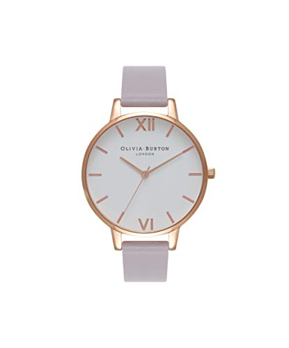Olivia Burton Damen Analog Quarz Uhr mit Leder Armband OB16BDW16