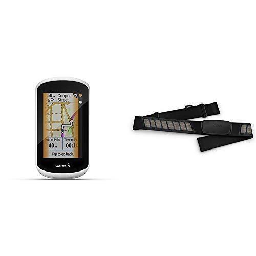 "Garmin Edge Explore GPS-Fahrrad-Navi - Europakarte, Navigationsfunktionen, 3"" Touchscreen, einfache Bedienung & Premium-Herzfrequenz-Brustgurt Dual Basic, Herzfrequenzdaten in Echtzeit"