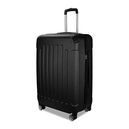 Tolletour TolleTour Trolley Koffer mit Zahlenschloss ABS-Hartschale Alu-Teleskopgriff Hartschalenkoffer mit 4 360° Rollen