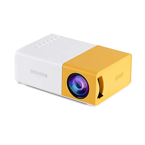 Docooler Mini LED Projector Supports 720P / 1080P Portable Video Projector with Built-in Speaker & Remote Control Support HD/AV/USB/Audio 3.5mm Interface for Home Theater Entertainment