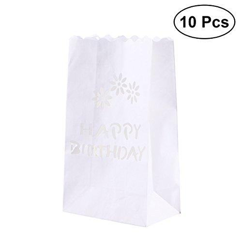 LEDMOMO 10 pcs Luminary Bougie Sacs Papier Led Thé Ligth Sac Lanterne Abat-Jour Voie De Mariage Décor D'anniversaire Accessoire