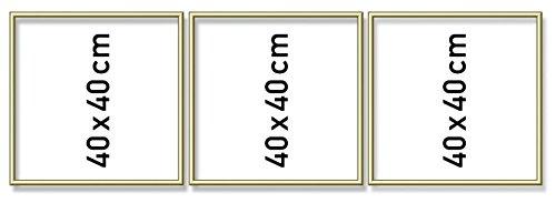 Schipper 605150706 Malen nach Zahlen, Triptychon, Alurahmen 120 x 40 cm, goldglänzend ohne Glas für Ihr Kunstwerk, einfache Selbstmontage