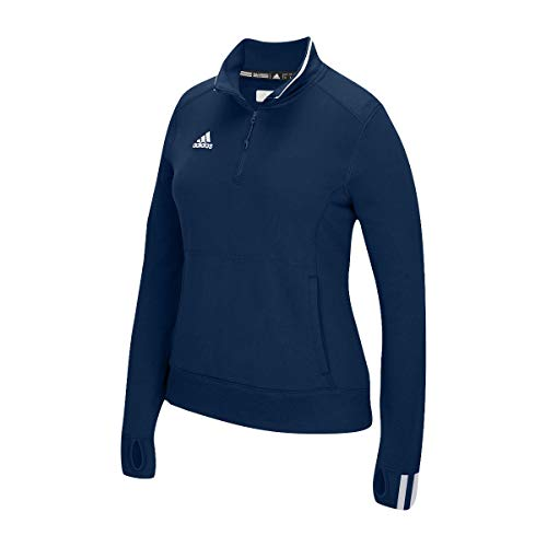 adidas Womens Climalite Long Sleeve 1/4 Zip, Collegiate Navy/White, Large