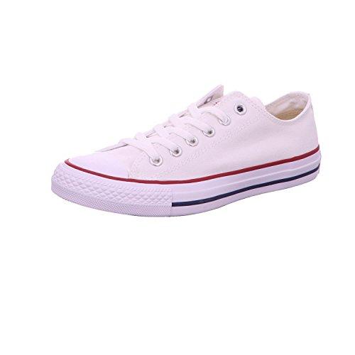 Converse - Chuck Taylor All Star OX, scarpe sportive unisex, con lacci e doppia linguetta, Bianco (Bianco ottico.), 36.5 EU