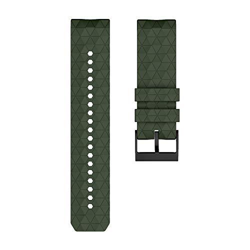 KHZBS Correa de Goma de Repuesto para Suunto Spartan Sport Wrist HR/9 Series 24 mm Smart Quick Release Watch Band
