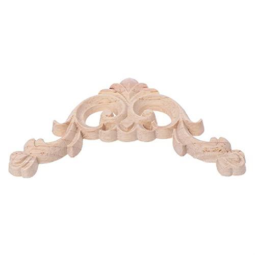 QFDM DIY Décoration 8pcs / Set Bois sculpté Coin onlay Applique Applique Smarboard Armoire Décalque pour Meubles de Maison Craft 8x8cm Décoration de fête