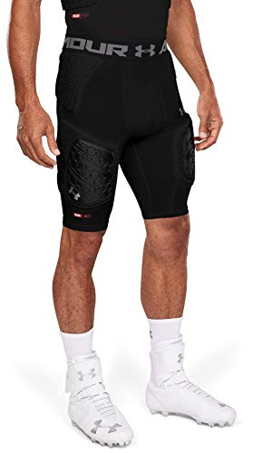 Under Armour Gameday Pro 5-Pad Football Compression Girdle/ Shorts, Football Padded Shorts, Youth & Adult sizes, Black, Adult - Small