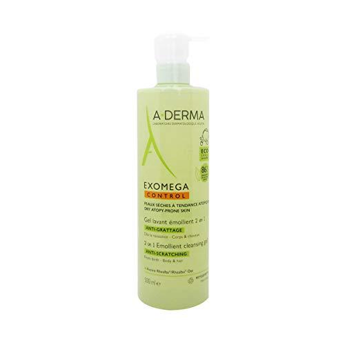 A-derma Exomega Control Emollient Cleansing Gel Körper Und Haar 500ml