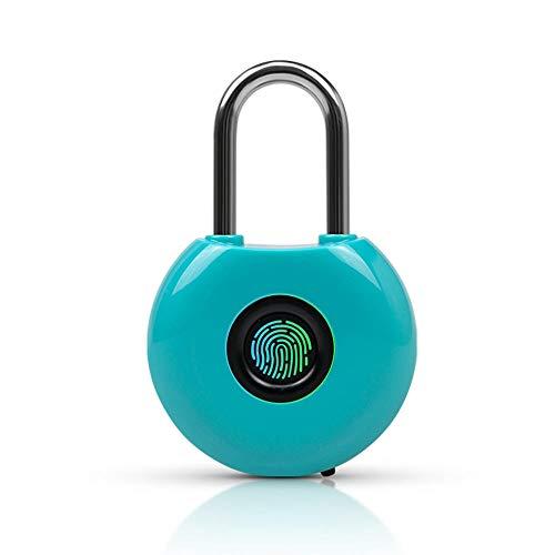 Gangkun Live vingerafdruk hangslot Smart bagage elektronische blokkering wachtwoordblokkering hangslot turnzaal kleine blokkering studentenhuis kastslot blauw