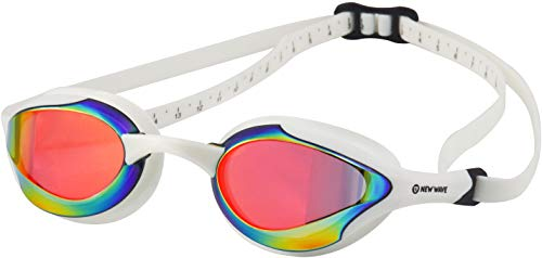 New Wave Fusion Swim Goggles (Revo Lens in White Frame) Molten Pearl
