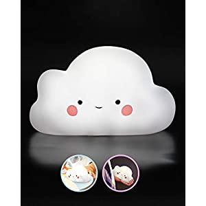 SomeShine Kids Night Light – Rechargeable Cloud Nursery Night Light with Auto-Off Timer,Safe and Durable Kawaii Lamp and Glowing Companion for Baby Feeding, Diaper Changing and Midnight Bathroom Trips