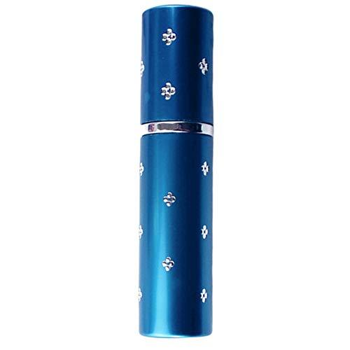 Empty Spray Bottle 10ml Refillable Portable Plum Blossom Empty Perfume Bottle Cosmetic Atomizer - Blue