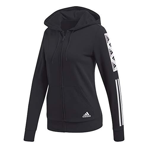 adidas Womens W Block Fz Hd Jacket, Black, L