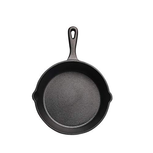 DASND Pan de Hierro Fundido Pan pequeña freír 14cm16cm20cm Pan Mini Pan no bastón sin Recubrimiento (Size : 16cm)