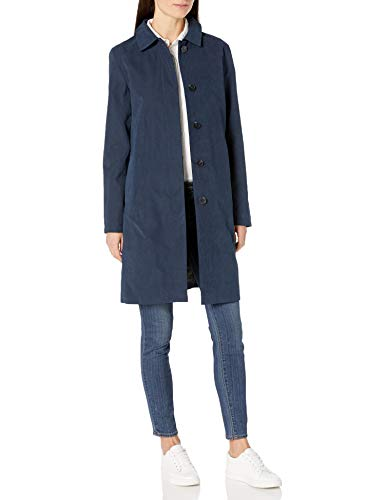 Amazon Essentials Water-Resistant Trench Coat Raincoats, Blu Marino, XXL