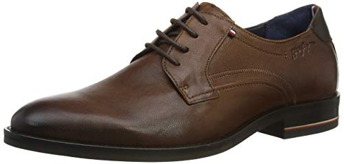 Tommy Hilfiger Herren Signature Hilfiger Leather Shoe Mokassin, Braun (Desert Khaki Gwj), 44 EU