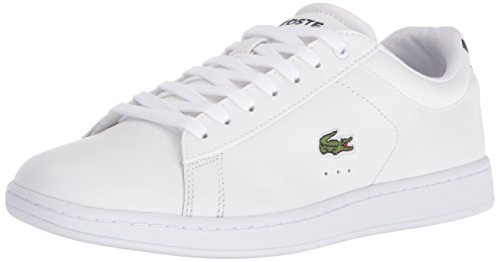 Lacoste Womens Carnaby Evo Bl Sneaker, White/Navy, 8 M US