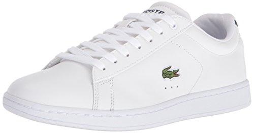Lacoste Womens Carnaby Evo Bl Sneaker, White/Navy