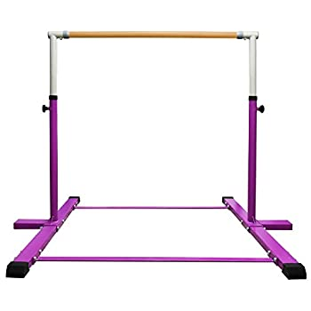 JC-ATHLETICS Gymnastic Kip Bar,Horizontal Bar for Kids Girls Junior,3  to 5  Adjustable Height,Home Gym Equipment,Ideal for Indoor and Home Training,1-4 Levels,260lbs Weight Capacity