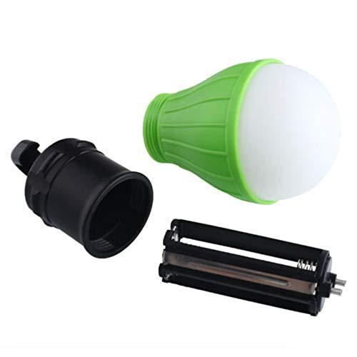 3 LED Ultra Bright Outdoor Maniglia di campeggio Lampada in plastica Tenda Lampadina con gancio della lampada per la pesca Escursionismo Illuminazione a sospensione