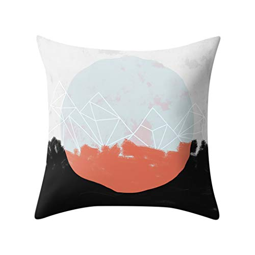WUDUBE_Kissen aus Polyester einfaches geometrisches Modell der literarischen Mode, wesentliches dekoratives Haus, 45cmx45cm