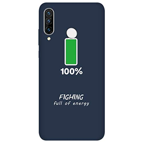 Eouine Capa para Huawei P30 Pro, capa de telefone 3D de silicone azul marinho vermelho com estampa de desenho animado ultra fina à prova de choque capa de borracha macia para smartphone Huawei P30 Pro, 08