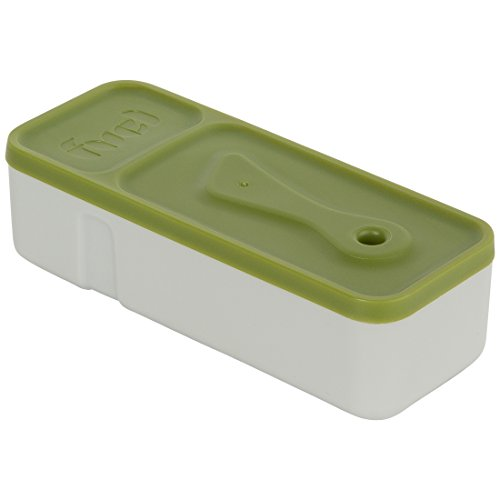 Trudeau Maison Fuel « Snack & Dip to go », Boîte à collation avec récipient et couteau à tartiner, 206 ml, vert