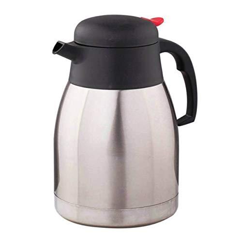 1,5 L dargent Carafe /à caf/é thermique en acier inoxydable Pichet isotherme sous vide /à double paroi pour caf/é Pichet isotherme th/é chocolat chaud