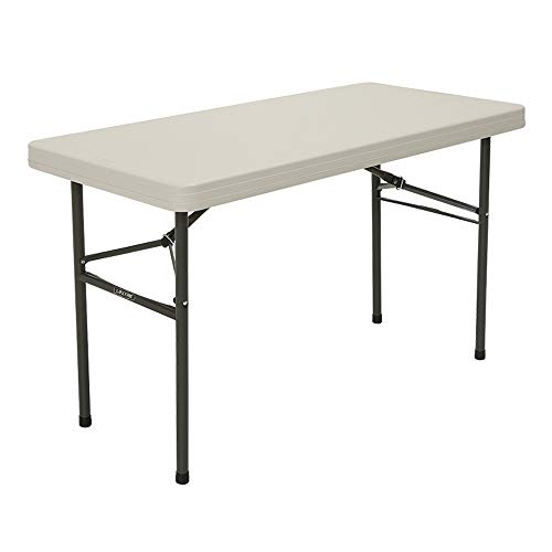 Table pliante rectangulaire beige 122cm Lifetime ref 4446
